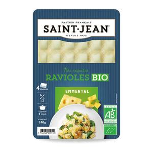 Saint Jean Ravioles à l'emmental 240G Bio 240g.