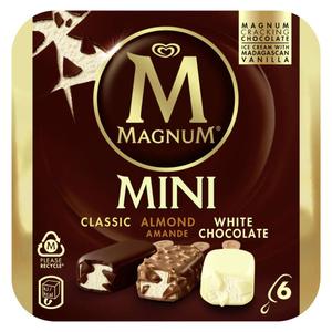 Magnum Glace Batonnet Mini Amande Chocolat Blanc 6x55ml
