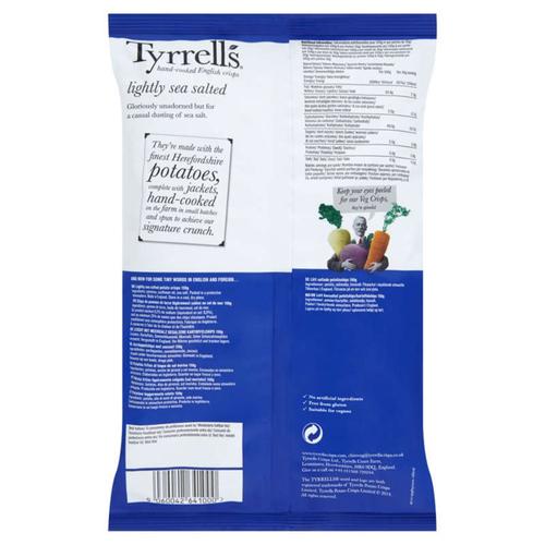 Tyrrell's Chips de pommes de terre au sel de mer 150g