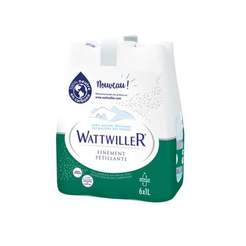 Wattwiller Eau minérale gazeuse finement Pétillante pack 6x1L