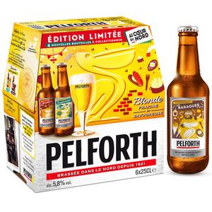 Pelforth Bière blonde du Nord 5.8° 6 x 25cl.
