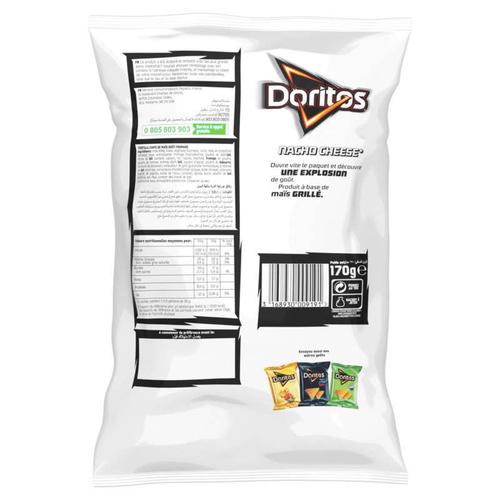 DORITOS Tortilla Chips Saveur Nacho Cheese le Sachet de 170g