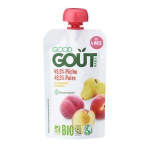 Good Goût Compote Bio Pêche Poire Dès 4 Mois 120g