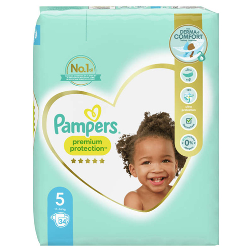 Pampers Premium Protection Geant T5X34