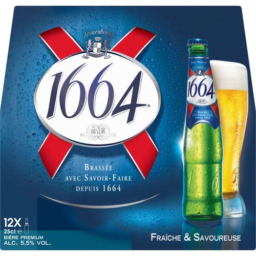 1664 Bière Blonde 12 x 25 cl