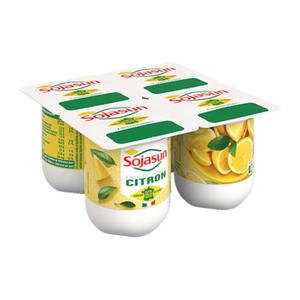 Sojasun Dessert végétal citron 4x100g.