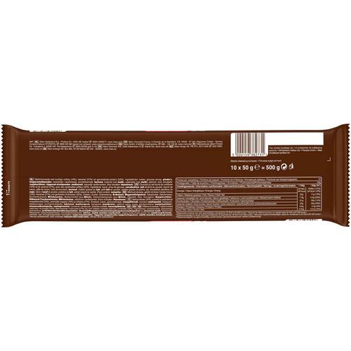Snickers Barres Chocolat au lait Caramel et Cacahuètes x10 500g