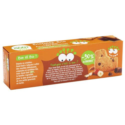 Good Goût Biscuits Bio Chocolat Amandes Noisettes 110g.