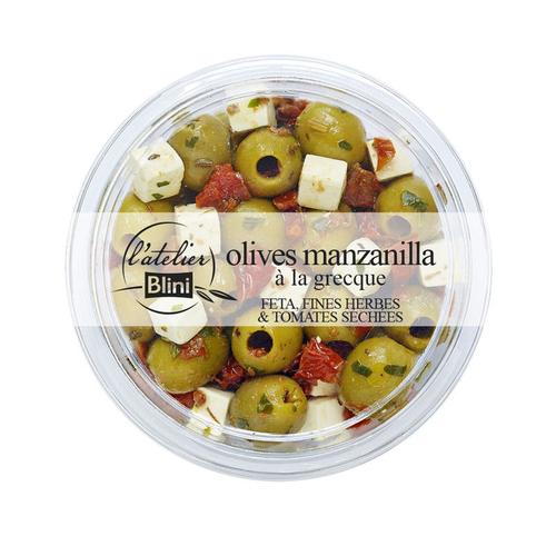 L'atelier Blini Olives manzanilla à la grecque 150g