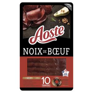 Aoste Spécialités de charcuterie Noix de Boeuf 10 tranches 80g