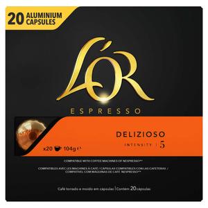 L'Or Espresso café delizioso intensité 5 x20 capsules, 104g