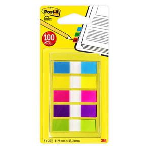 Post-It 100 Mini Index, Post It, 5 Couleurs.