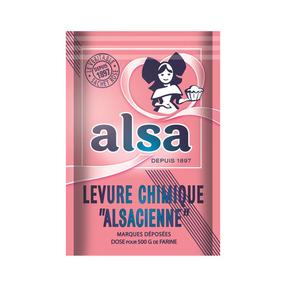 Alsa Levure Chimique Alsacienne 8 Sachets 88g.