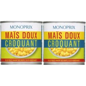 Monoprix Maïs Doux Croquant x2, 285g