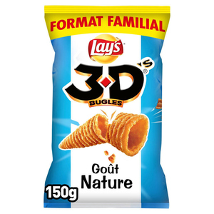 Bénénuts 3D's bugles nature format familial 150g