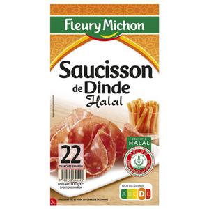 Fleury Michon Saucisson De Dinde Halal 100 G
