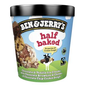 Ben & Jerry's Glace Pot Half Baked 465ml