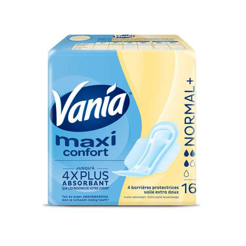 Vania Serviettes hygièniques Maxi Confort, normal+ x16