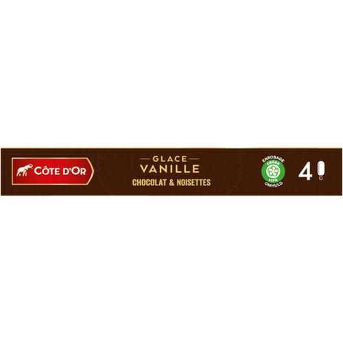 Côte d'Or 4 Bâtonnets Vanille Chocolat Lait Noisette 260g