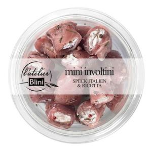 L'atelier Blini Mini involtini au speck italien et ricotta 120g
