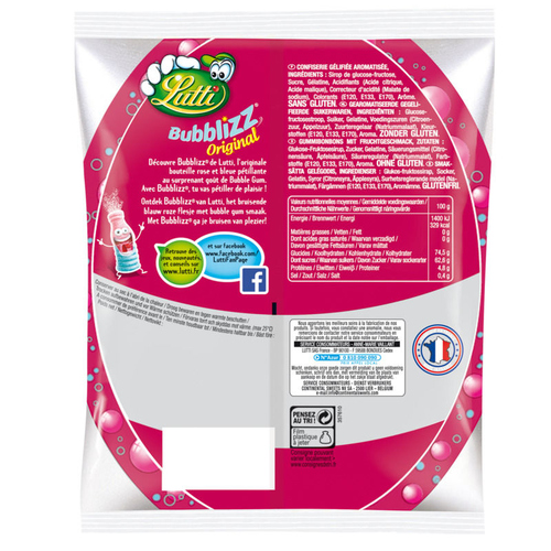 Lutti Bubblizz Original Bonbons 250g.