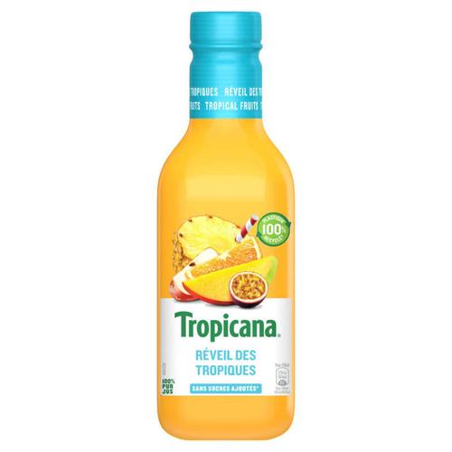 Tropicana Pur Jus Frais de Fruits Tropicaux la Bouteille de 90cl