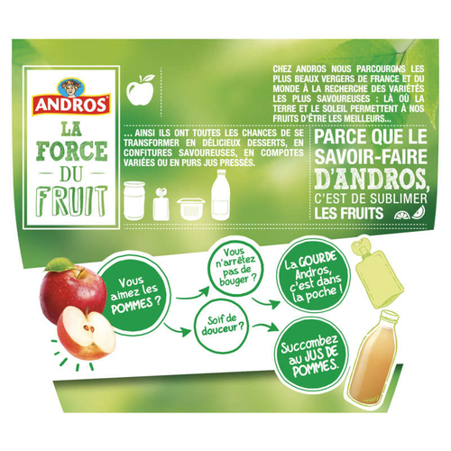 Andros Compote Pomme Nature 8x100g.
