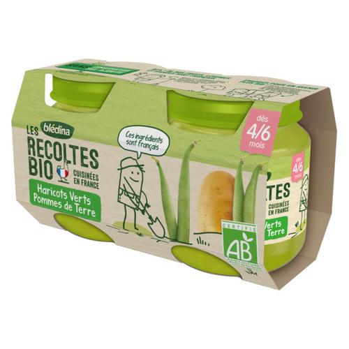 Blédina Petits Pots Haricots verts Pommes de Terre BioDès 4/6 mois 2x130g