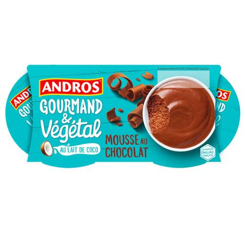 Andros Gourmand Mousse au chocolat au lait de coco 220g