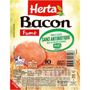 Herta bacon fumé sans antibiotique