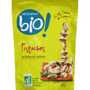 Monoprix Bio Pistaches grillées et salées bio 100g