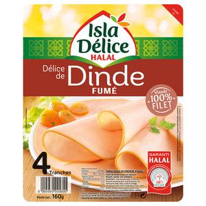 Isla Délice Delice de dinde fumé halal 160g