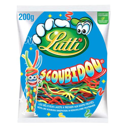 Lutti Bonbons Scoubidou aux goûts fruités 200g
