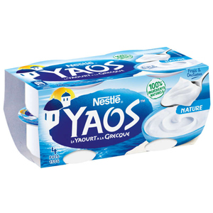 Yaos Yaourt Grecque nature le pack de 4x150g