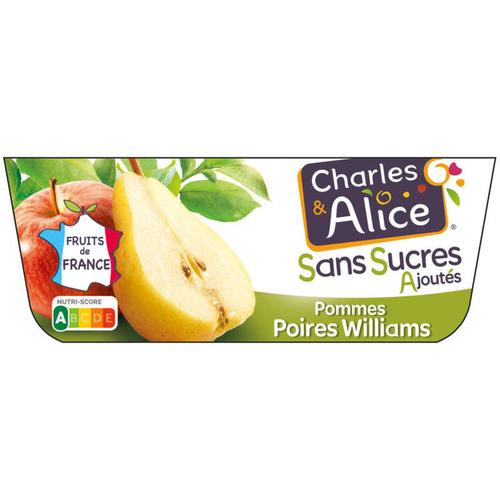 Charles & Alice Desserts Pommes & Poires Williams 4x100 g