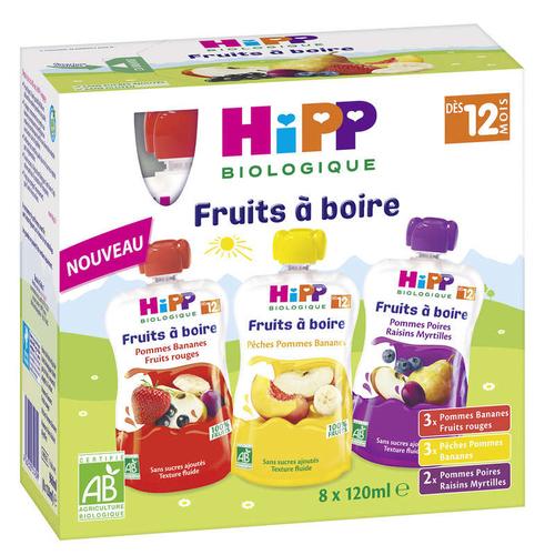 Hipp Biologique Purée De Fruits 3 Variétés, Dès 12 Mois.