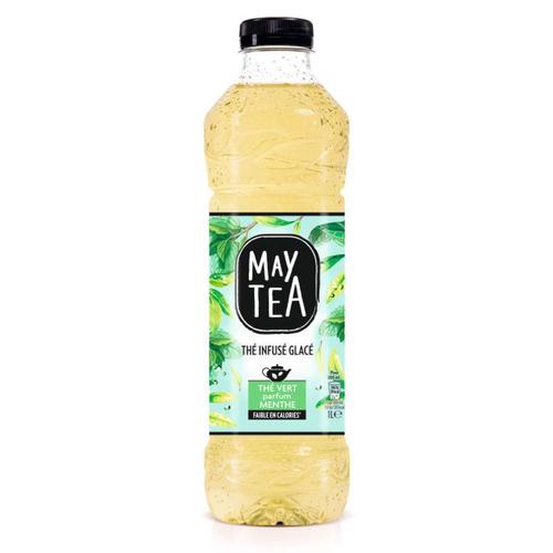 Maytea thé vert infusé glacé menthe la bouteille de 1L.