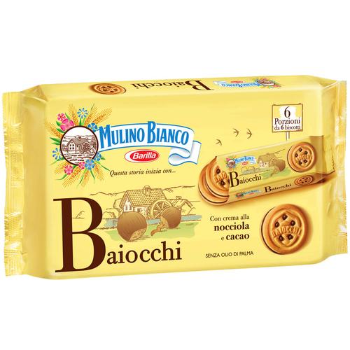 Mulino Bianco Biscuits Fourrés Crèmes de Cacao et Noisette 336g