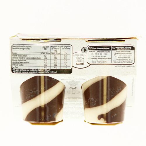 Nestlé mousse viennois au chocolat le pack de 4x90g.