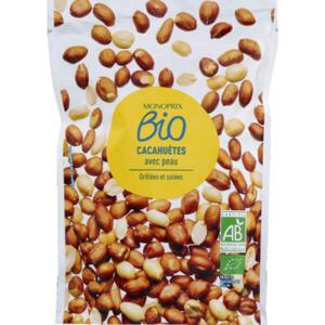 Monoprix Bio Cacahuètes salées grillées 200g