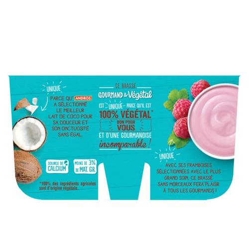 Andros végétal framboise& lait de coco 4x100g
