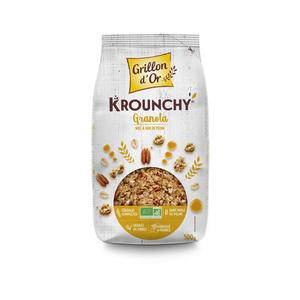 [Par Naturalia] Grillon D'Or Krounchy Granola Miel & Noix De Pécan 500G Bio