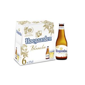 Hoegaarden bière blanche aux épices pack 6x25cl .