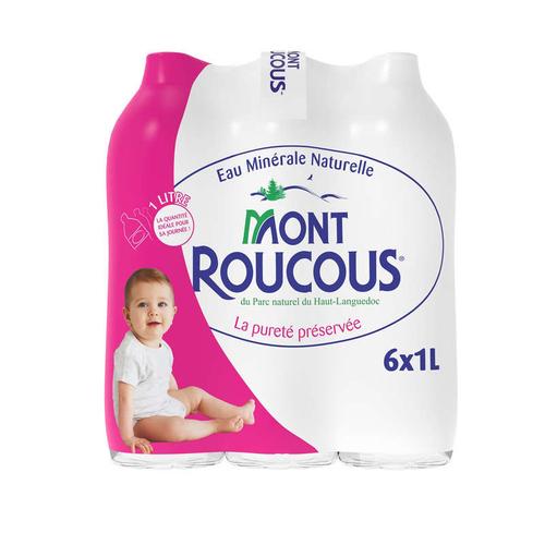 Mont Roucous eau minérale naturelle le  pack 6x1L