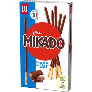 Lu Mikado Biscuits nappés chocolat au lait 90g