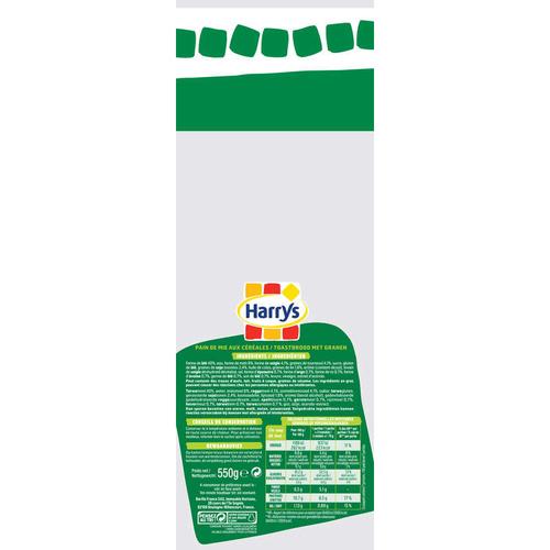 Harrys Pain de Mie American Sandwich 7 céréales 550g