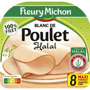 Fleury Michon Blanc De Poulet Halal Tranches Fines X8