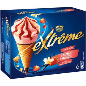 Nestlé Cônes glacés fraise et vanille 426g