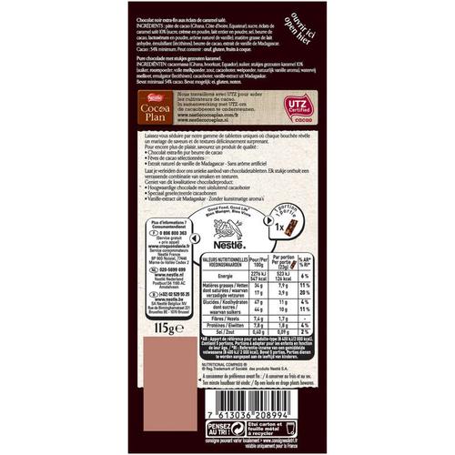 Nestle Chocolat Noir Caramel À La Pointe De Sel 115G