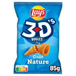 Lay's 3D's Bugles Biscuit Apéritif Goût Nature 85g